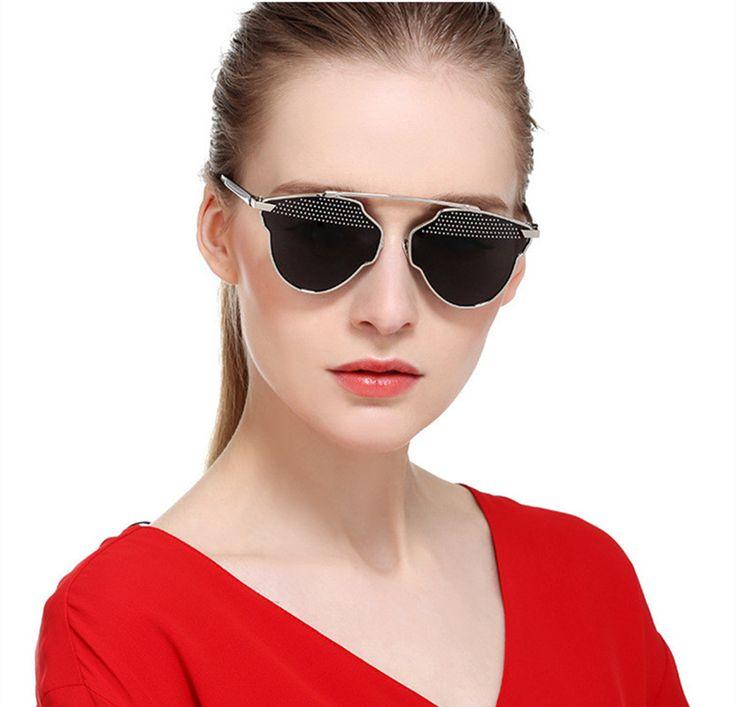 2017 Luxury Brand Sun Glasses Retro Women Sunglasses Classic Flat Female Sunglasses for Men Mirror Goggles Spectacles UV400