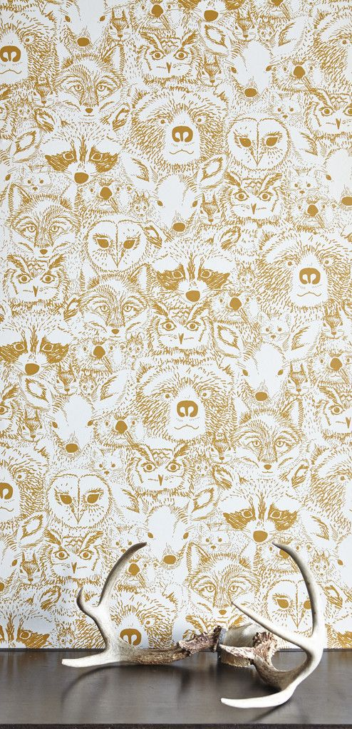 Amazing woodland creatures wallpaper - cute enough for a great theme kids bedroom or nursery but sophisticated and cool enough for a rustic living room or entryway! Beautiful wallpaper