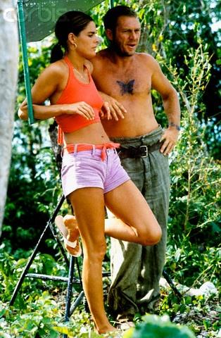 Steve McQueen, Ali McGraw | Back set of Papillon | 1973 | as Henri 'Papillon' Charriere