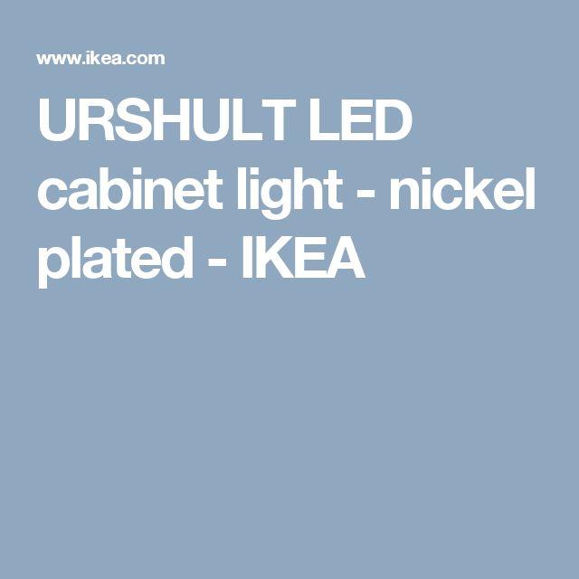 URSHULT LED cabinet light - nickel plated  - IKEA
