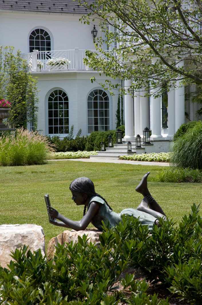 "***Garden Reading***  (We have this identical, life-size statue in our backyard who we've nicknamed ""Emily.""  She's a true inspiration!! ~ we love her!)  ☆"