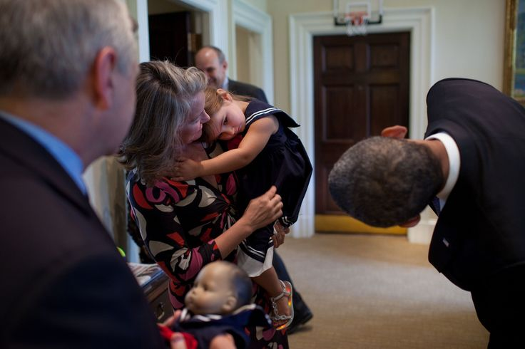 Photo: Jack Reed's daughter a little shy with President Obama. From July 2010