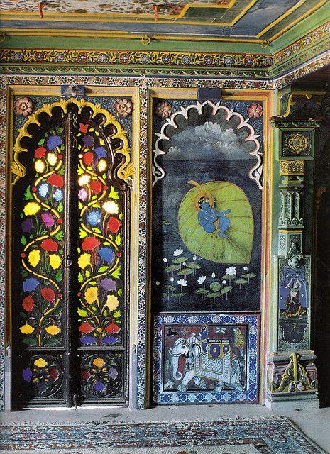 Painted doors in India~