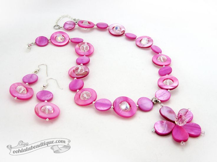 Fuchsia jewelry set pink necklace bridesmaid jewelry pink mother of pearl necklace statement flower pendant girlfriend gift for wife by OohlalaBeadtique on Etsy https://www.etsy.com/ca/listing/545315822/fuchsia-jewelry-set-pink-necklace  #fuchsiajewelry #pinknecklace #gift #giftideas #necklace #jewelry #wedding #pink #giftideas #fashion #style #trends #trending #bridesmaids #holiday #motherofpearl