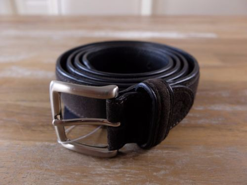 auth CANALI brown suede belt - Size 100 (fits size 39 waist best) - NWOT