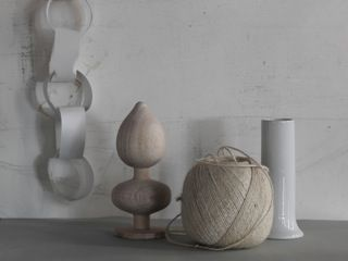 Shades of pale: still life styling in beautiful neutral textures and shapes. Styling by Lara Hutton, photographed by Jason Loucas #jasonloucas #larahutton #styling #stilllife #wood #wool #paper #stone #neutrals