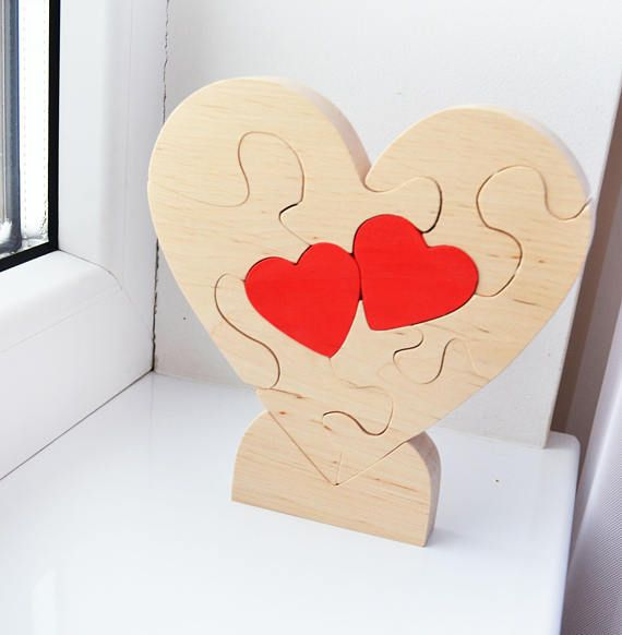 Love Heart Puzzle Valentines Day Gift Wooden Heart Decor Wedding Gift Unusual Gift Gift For Her Him Love Gift Hou Heart Decorations Wooden Hearts Unusual Gifts