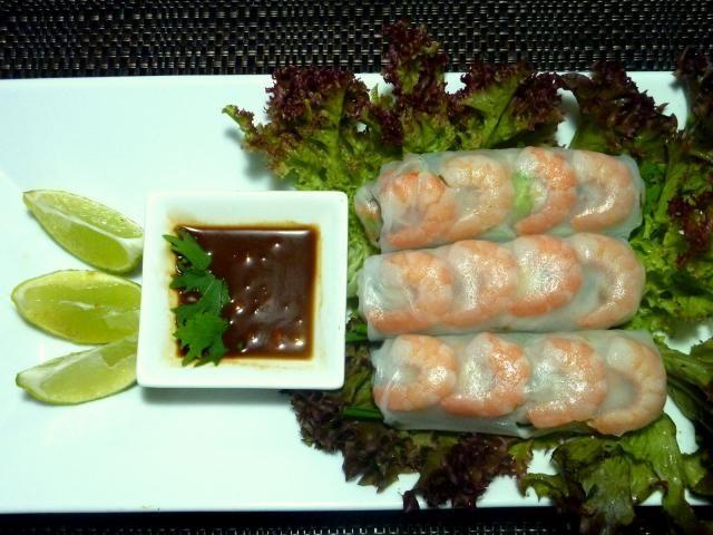 Vietnamské krevetové rolky Gỏi Cuốn