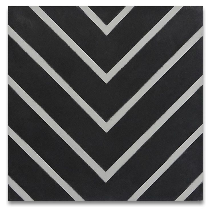 Mosaic Amlil Black and White Handmade Moroccan 8 x 8 inch Cement and Granite Floor or Wall Tile (Case of 12) (Amlil Black and White)