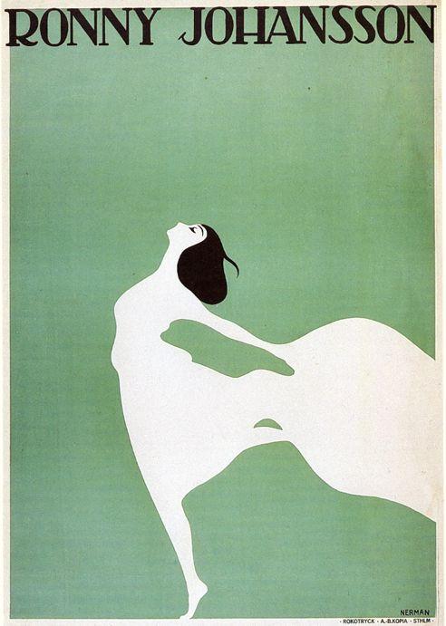 swedish design: Einarnerman, Birds Art, Vintage Typography, Negative Spaces, Dance Teacher, Vintage Art Deco Poster, Graphics Design, Nerman Poster, Einar Nerman