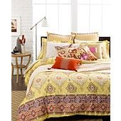 CLOSEOUT! Echo Bedding, Colorful Kilim Comforter and Duvet Cover Sets. Beautiful detail!