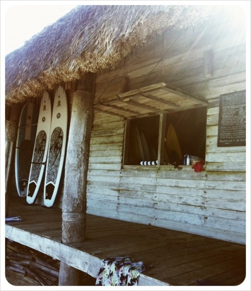 Postcards from Sumba Island: A quaint surf shop on the island!