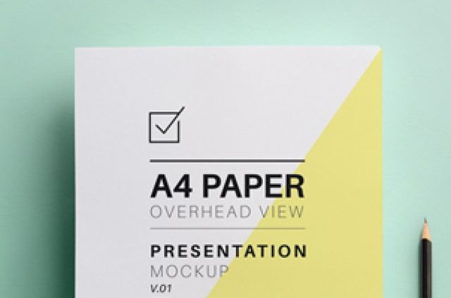 This is a great overhead A4 psd mock-up to showcase all your A4 letterhead and stationery designs with style. We also...
