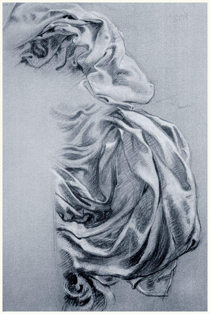 Study for Juno's Cloak in Prospero Herbert James Draper