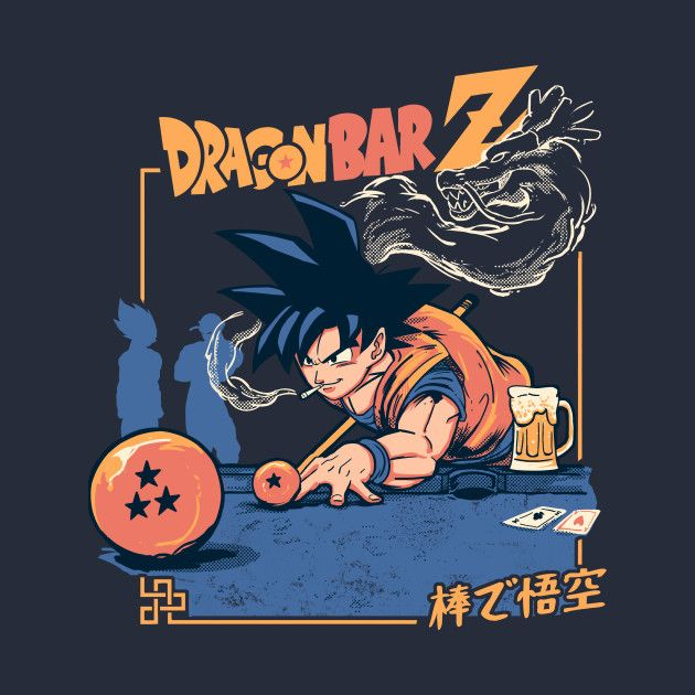 Check Out This Awesome Dragon Bar Z Design On Teepublic Dragon Ball Art Dragon Ball Artwork Anime Dragon Ball Super
