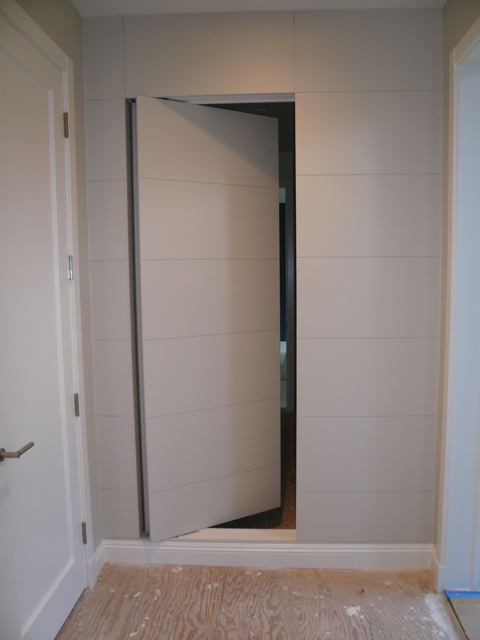 Flat Panel door - secret room