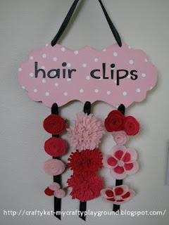 hair clip holder and felt flowers: Delicate Fake Flower, Diy Ideas, Fake Flower Hair, Hairclip Ideas, Craft Ideas, Crafty Ideas