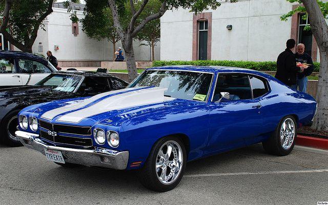 1970 Chevrolet Chevelle SS - blue -