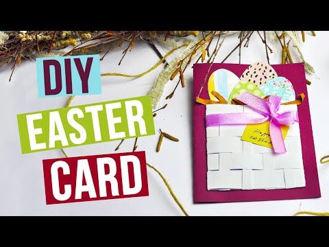 This lovely Easter card, made with love and heat, will long remind of spring! #diycard #eastercard #greetingcards
