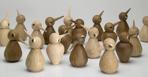 Wooden birds by Kristian Vedel