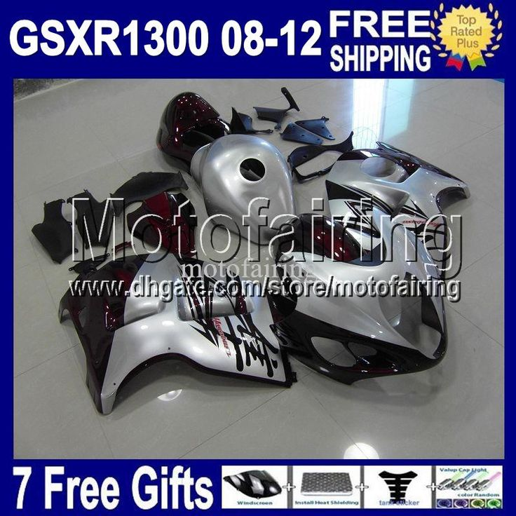Wholesale 451623 Gsx - Buy 7gifts&NEW For SUZUKI Hayabusa GSXR 1300 Dark Red Silver 2008-2012 08 09 10 11 12 #451623 GSX R1300 GSX-R1300 GSXR1300 Fairings, $411.21   DHgate