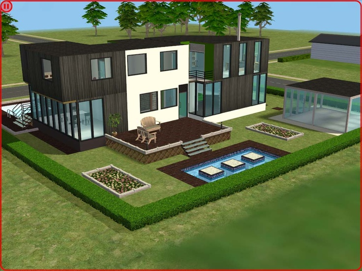 16 best images about my favourite sims 2 houses on pinterest mansions villas and modern house - Sims 3 wohnzimmer modern ...