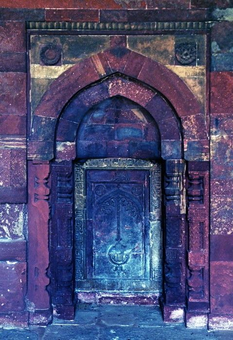 Purple and blue door, place unknown