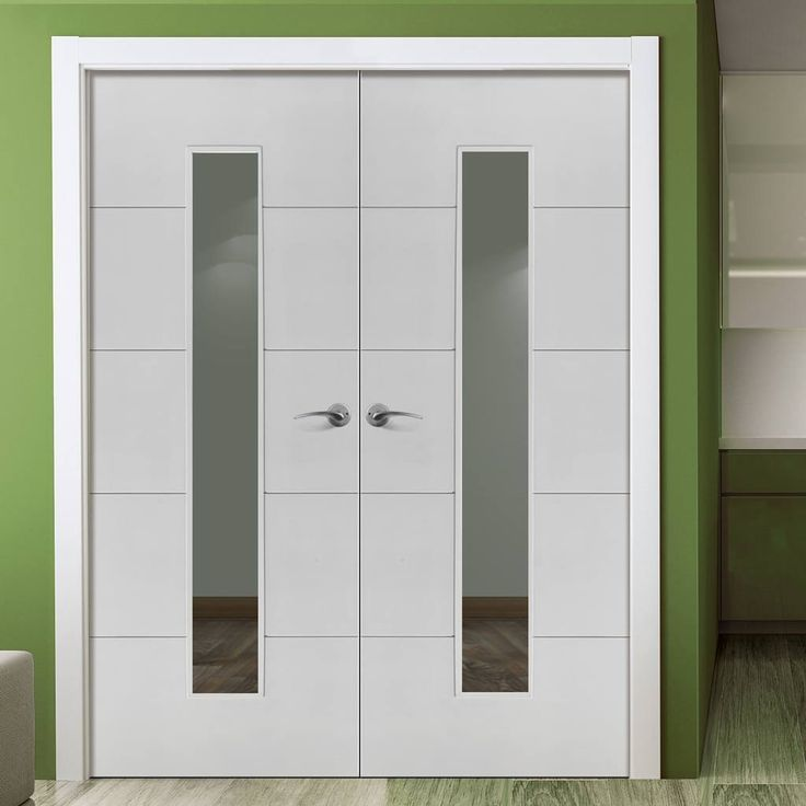 Jbk limelight dominion door pair, white primed fire door, 30 minute fire rated with pyrodur glass for your safety. #firedoors #glazeddoorpair #internaldoorpair