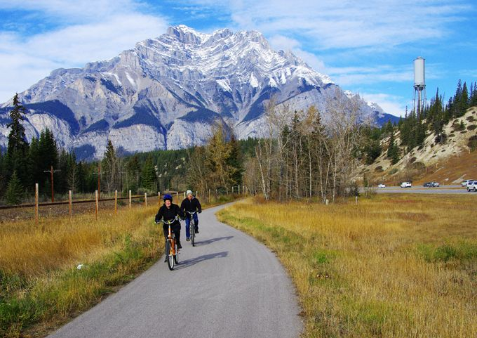 Cycling the Banff Legacy Trail, Alberta