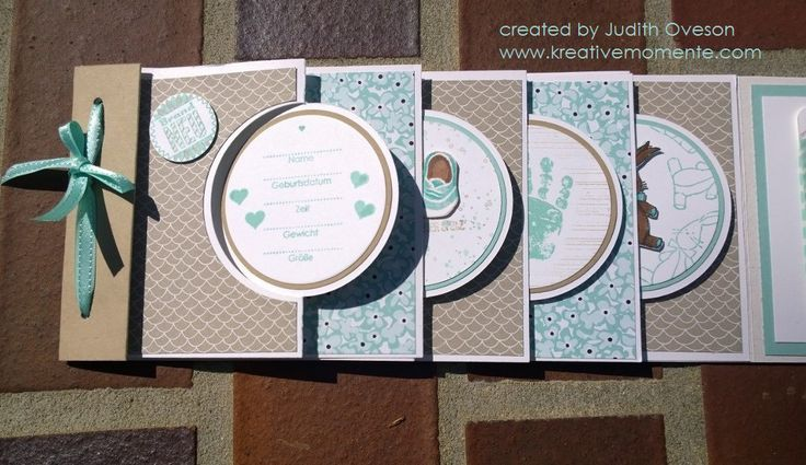 #GDP003, #Baby Prints, #Mini Album, #Circle Framelits Mini Album, #Familienzuwachs, #Gorgeous Grunge, #Kleine Ganz Groß