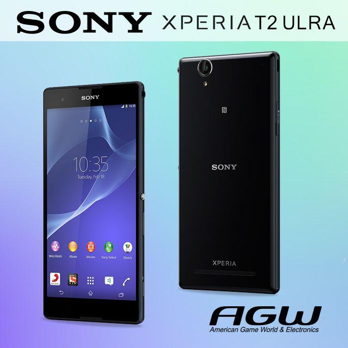 Acaba con el aburrimiento SONY XPERIA T2 ULTRA Nuestro nuevo y fácil de llevar smartphone HD de 6 pulgadas con cámara de 13 MP, Cámara inteligente.  Pantalla brillante.  Entretenimiento en cualquier lugar.