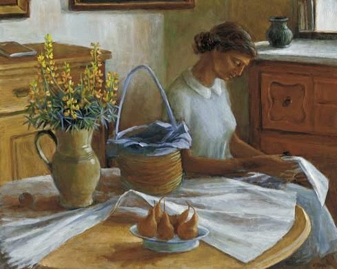 Interior with Girl Reading c. 1962, Margret Olley