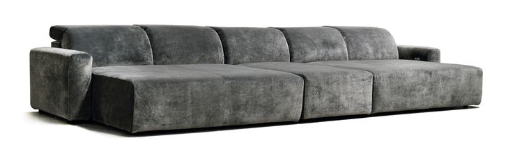 large home cinema daybed, finished with a crushed grey velvet. A beautiful home theatre day bed/chaise seating