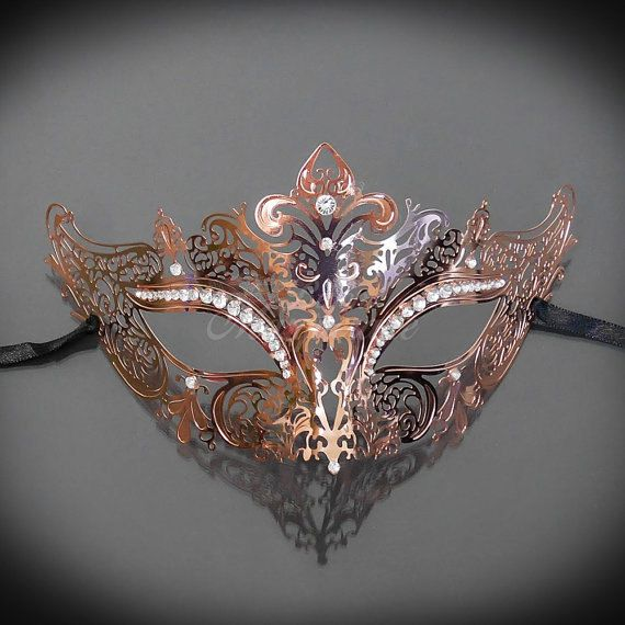 New Rose Gold Mask Rose Gold Masquerade Mask Mask by 4everstore