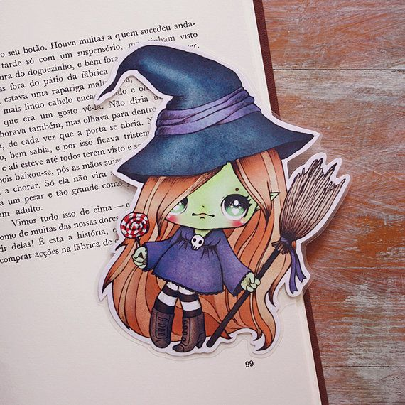 Candy+witch++bookmark+by+ribonitachocolat+on+Etsy