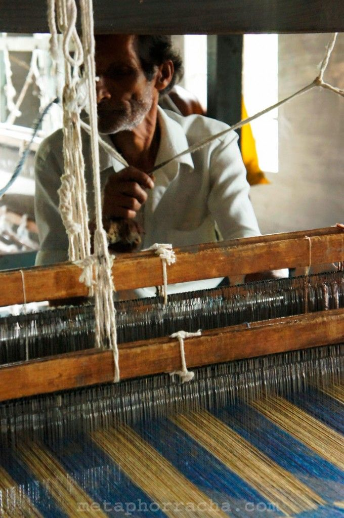 our khadi weaver .