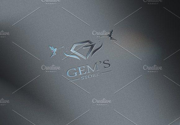 Gems store logo by CreativeToons on @creativemarket