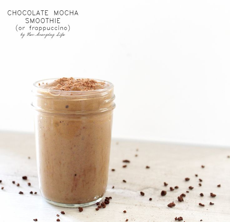 Chocolate Mocha Smoothie or Frappuccino #recipe #healthyeating #smoothie #vegan