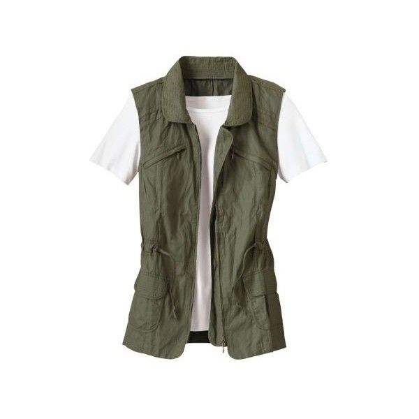 Women's Serengeti Vest ❤ liked on Polyvore featuring outerwear, vests, vest waistcoat and safari vest