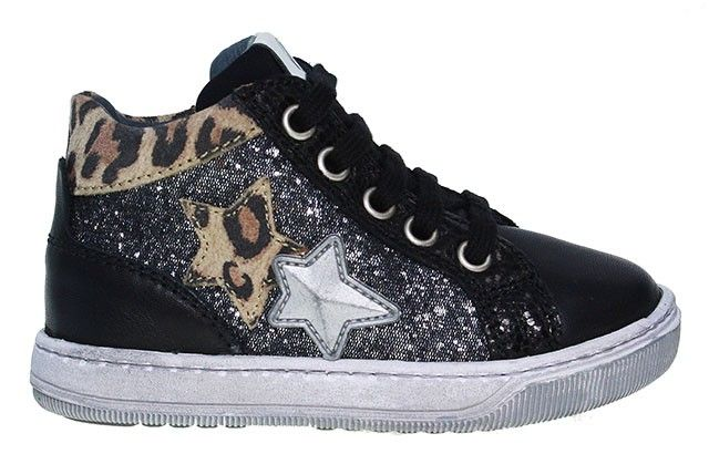 Naturino   Mädchen Sneaker - schwarz   nero multi  #kids #sneaker #kinderschuhe #shoesforkids #leo #fashion #kidsfashion #stars