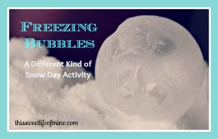 What to do when you're trapped inside on a snow day? How about freezing bubbles? Or, how about making maple syrup snow candy? | This Sweet Life Blog