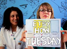 How-Tuesday: Weekly Planner with Julie Schneider aka yoursecretadmiral on Etsy