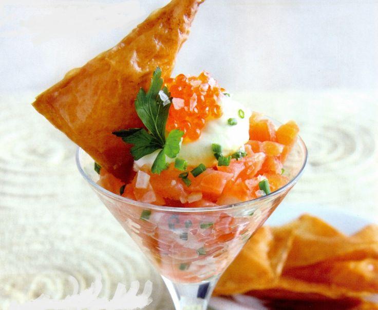 Coctel de salmon ahumado | Cocina recetas