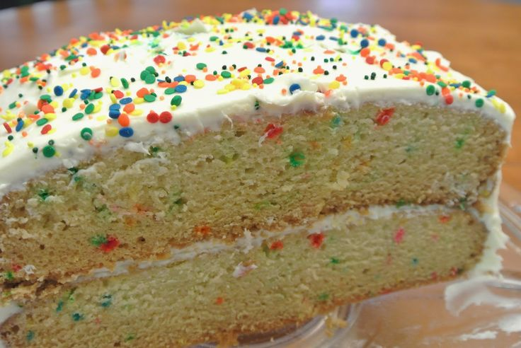 Dairy-Free & Egg-Free Vanilla Confetti Cake!  Can be soy-free, too.