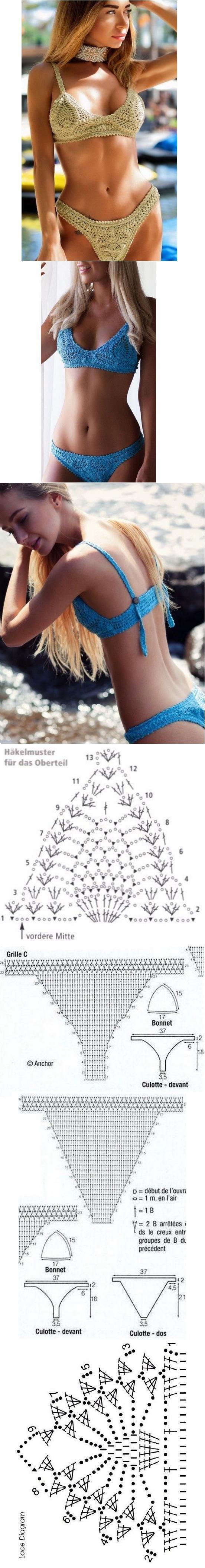 711 best Bikini images on Pinterest | Blouse, Chrochet and Crochet