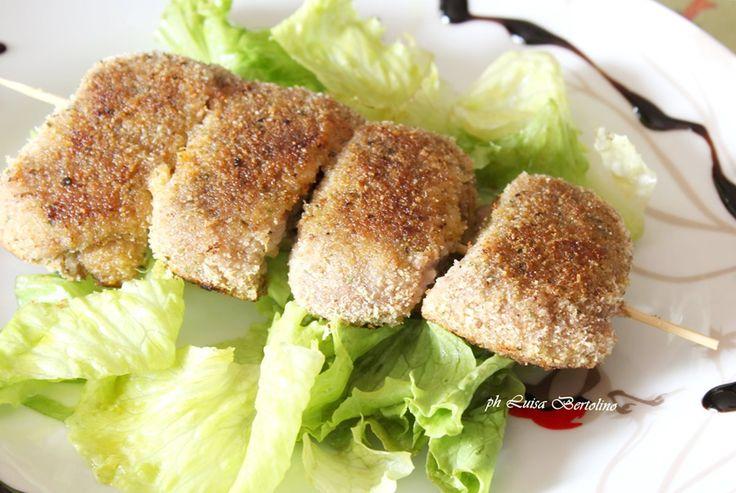 Braciole panate farcite con olive e pangrattato