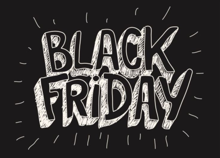 black friday white text on black background