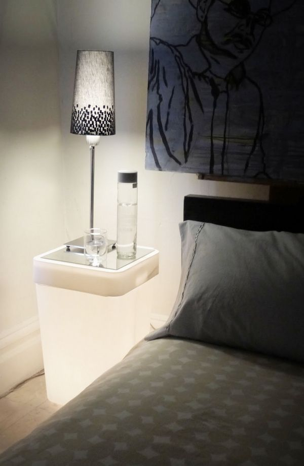 Beautiful luminous nightstand | www.bocadolobo.com #bocadolobo #luxuryfurniture #exclusivedesign #interiodesign #designideas #bedroomideas #nightstandsideas #modernnightstands