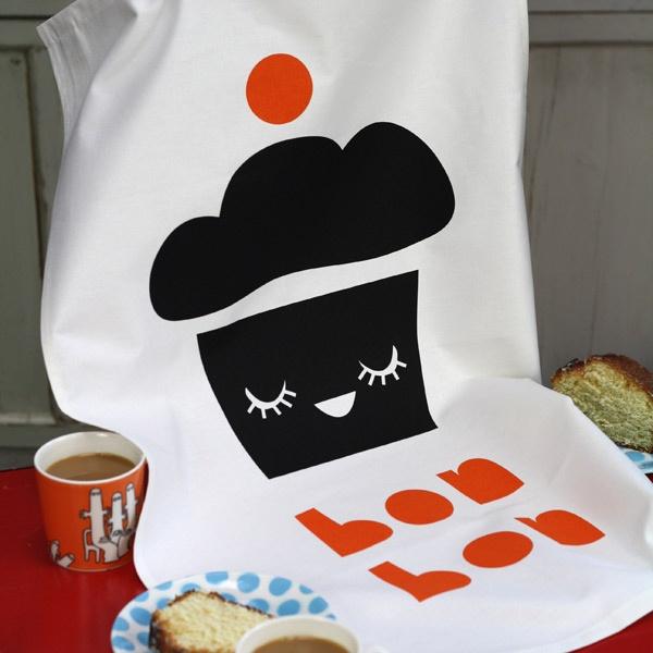 Bon Bon tea towel - Designer tea towels from ToDryFor.com