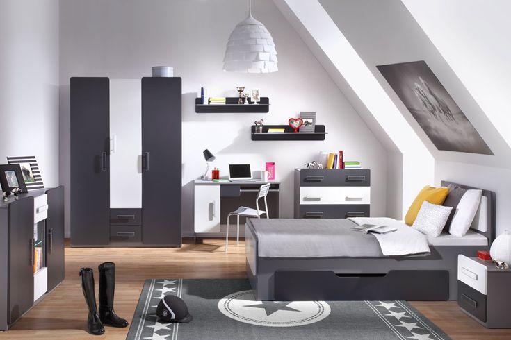 Pokój nastolatka w designerskim stylu - sprawdź! http://www.mirjan24.pl/meble-mlodziezowe/1634-meble-mlodziezowe-dido-iv-5900102746866.html  #nastolatki #pokój #młodzieżowy #teeneger #room #mirjan24